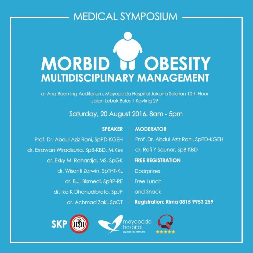 Mayapada Hospital Medical Symposium Morbid Obesity Multidisciplinary Management